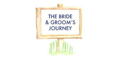 Bride and Groom's wedding car journey