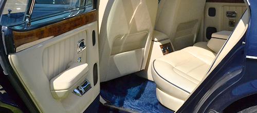 Bentley Brooklands wedding transport interior photo
