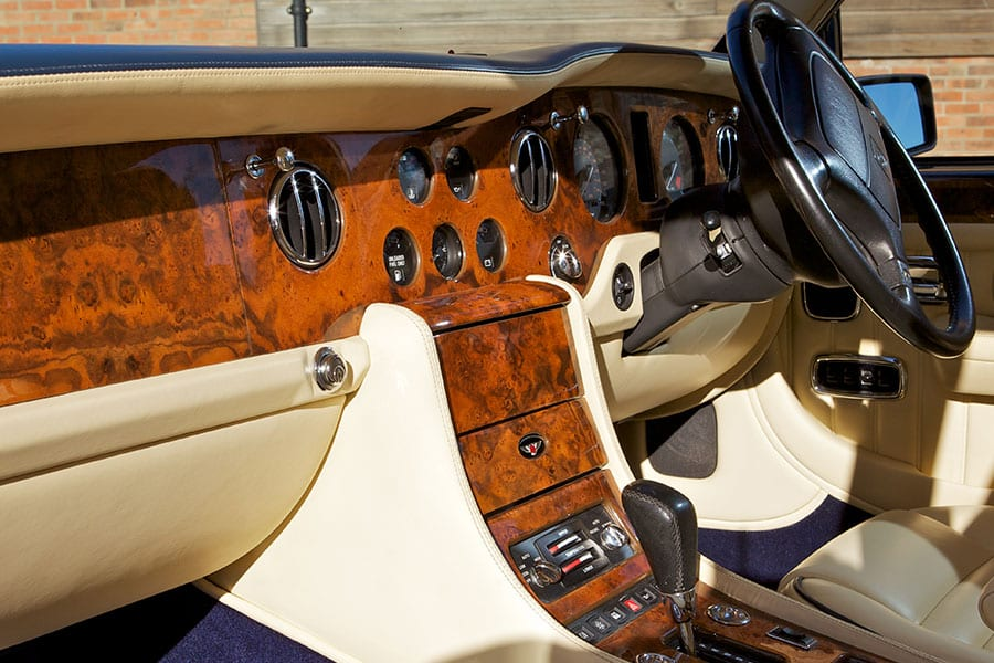 Bentley Brooklands wedding car interior - front dashboard