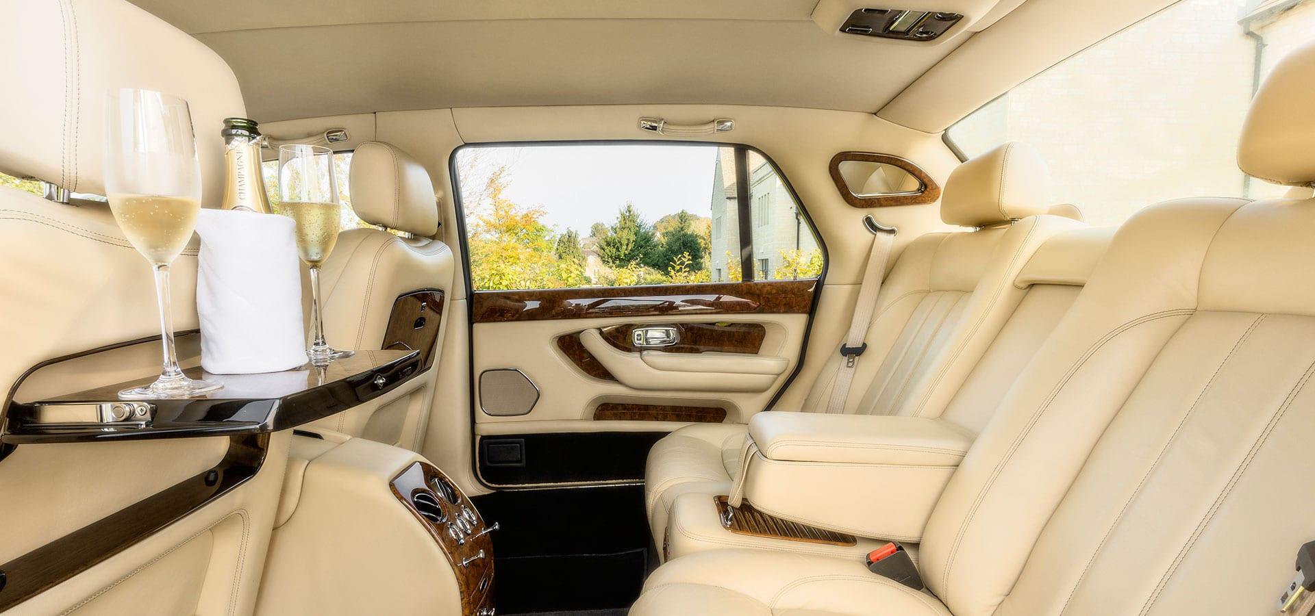 Bentley Arnage wedding car with large leg room space