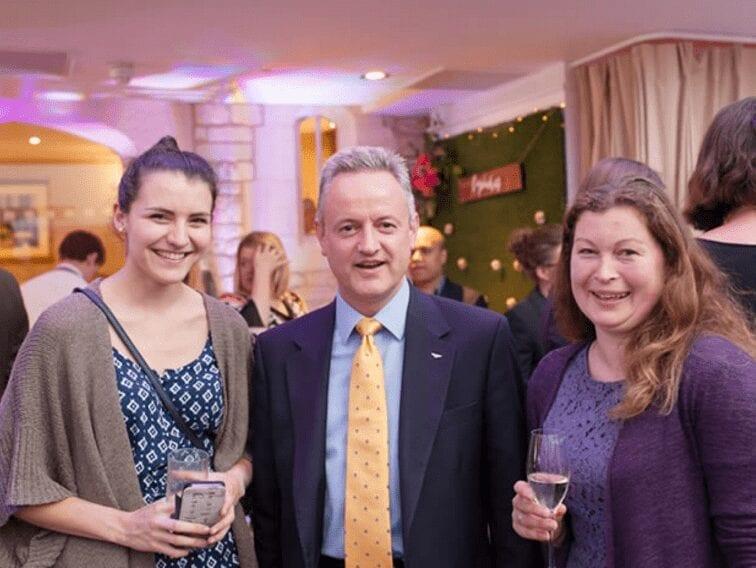 David Keffler of Azure Wedding Cars at the So Glos weddings party at Ellenborough Park hotel, Cheltenham