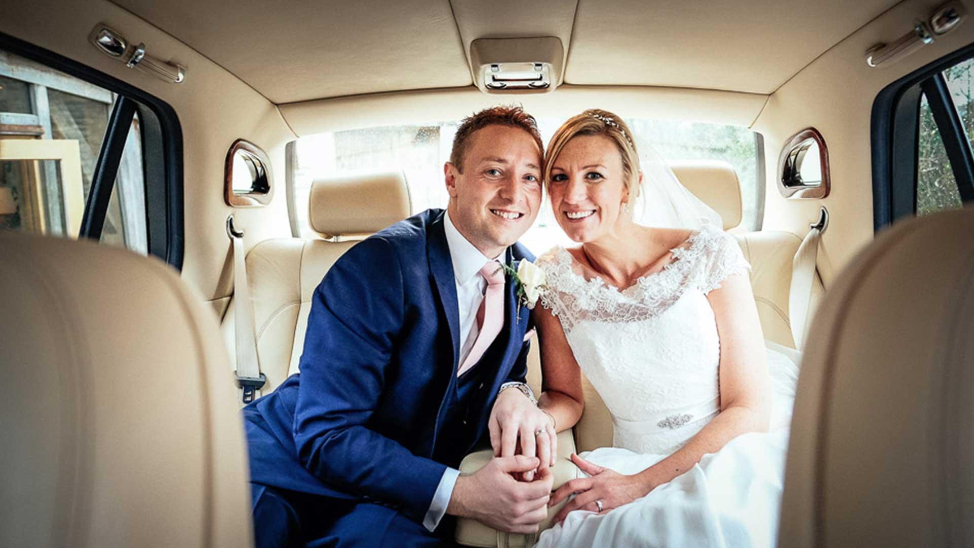 Ben and Sophie in the Bentley Arnage