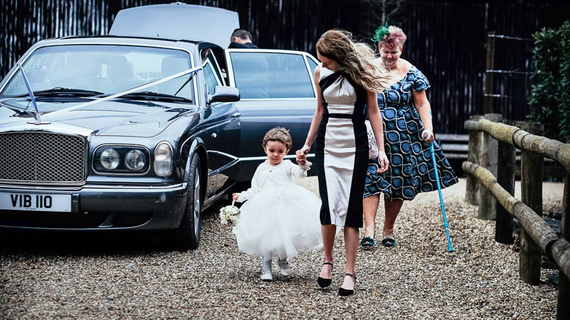 Wedding Guests with the Bentley Arnage