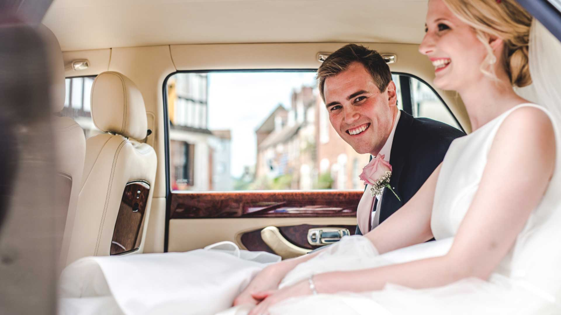 Jo and Helen in the Bentley Arnage Wedding Car