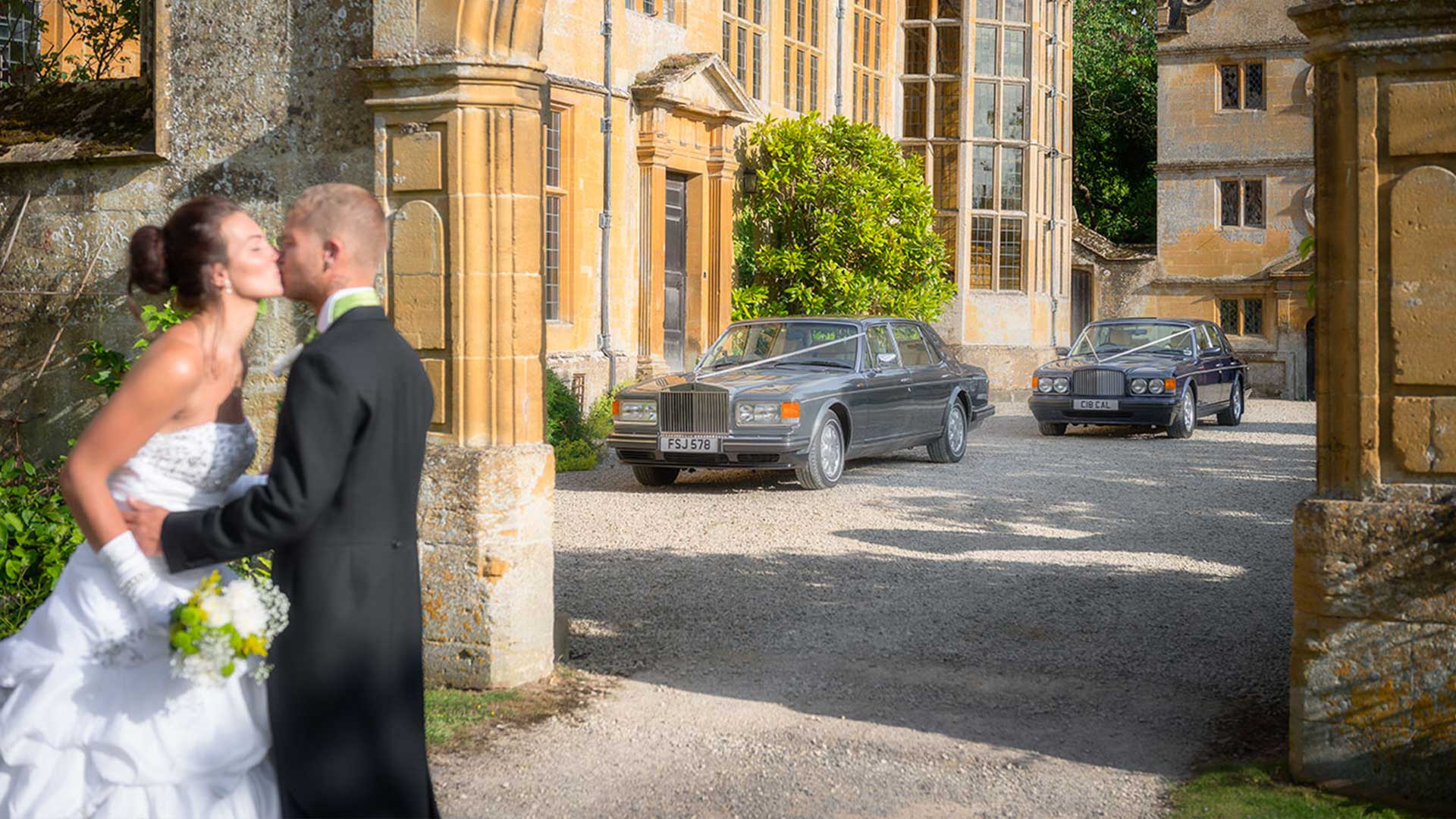 Ben and Kadie with the Rolls-Royce Flying Spur and Bentley Brooklands