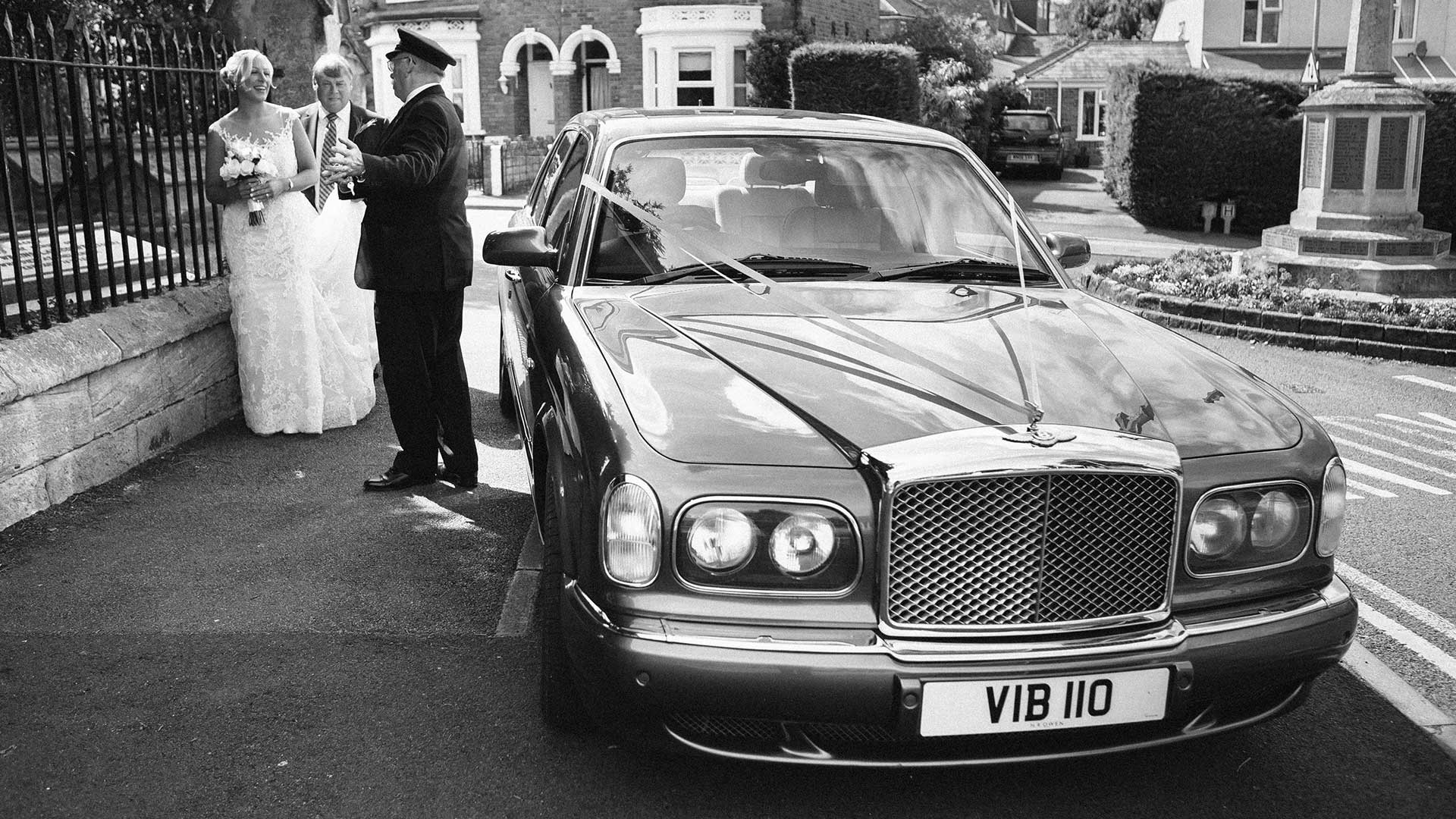 Sam with the Bentley Arnage and Azure's Chauffeur