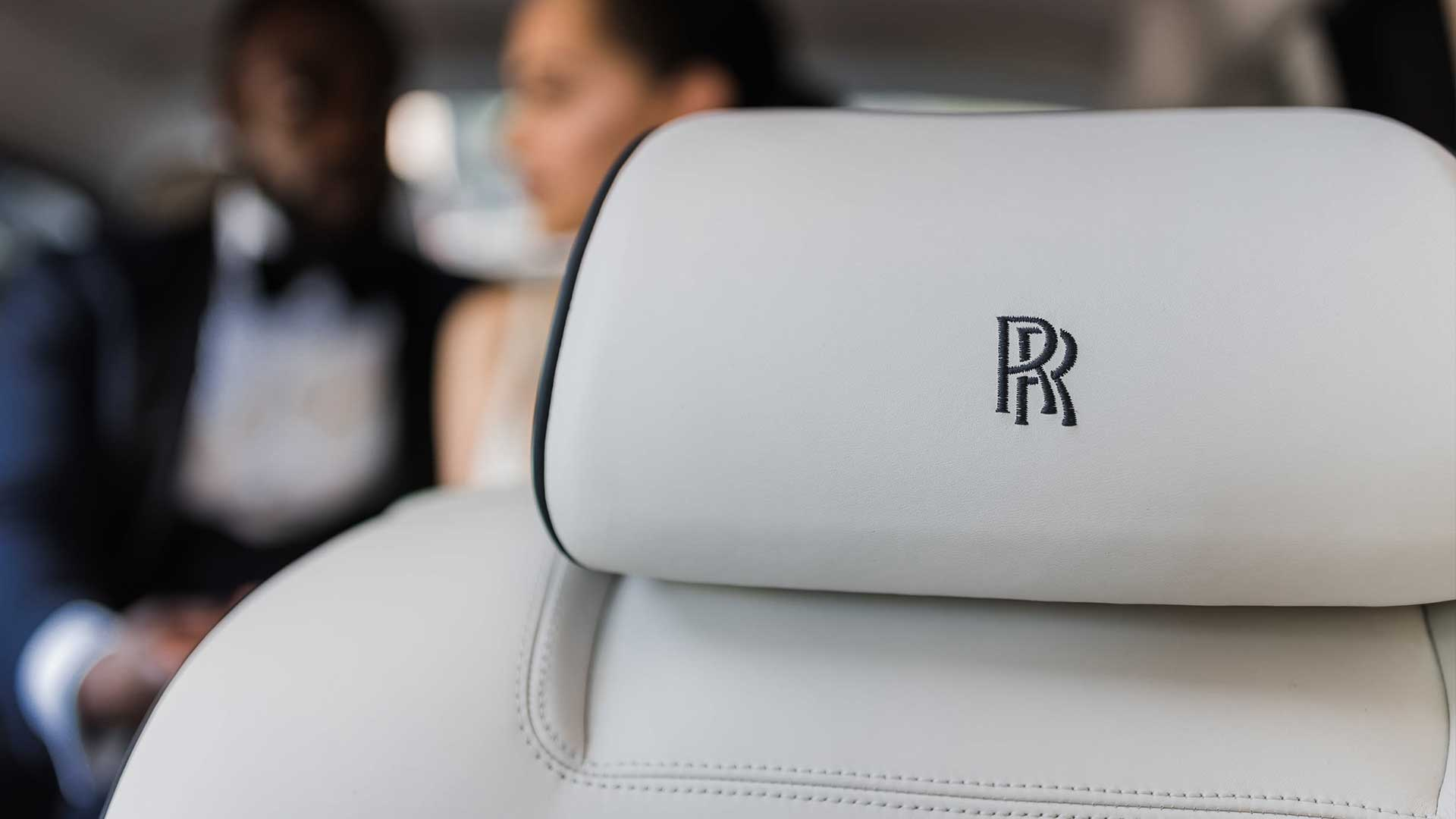 Rolls-Royce Phantom Fine Leather Embroidered RR Head Rests