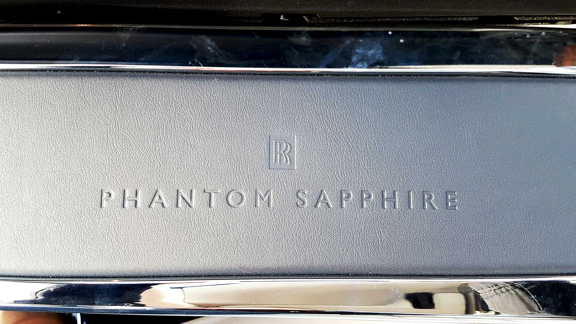 Special Edition Rolls-Royce Phantom Sapphire Embossed Leather
