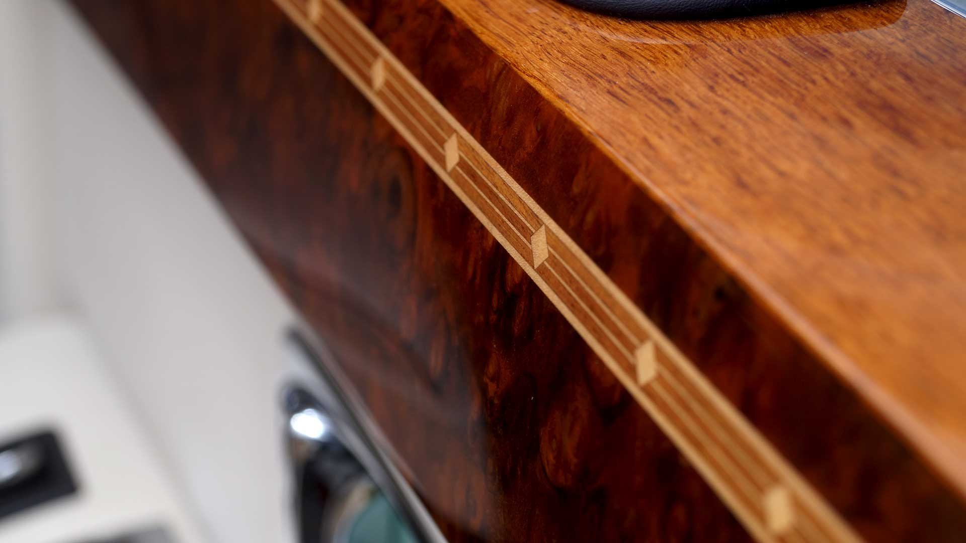 Rolls-Royce Phantom Walnut Marquetry Close-Up