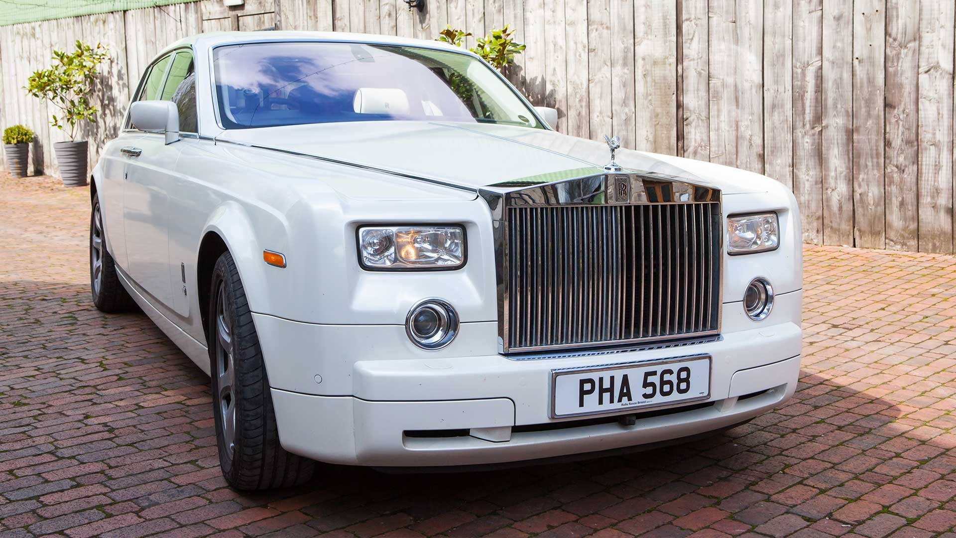 The Rolls-Royce Phantom in Pearlescent White