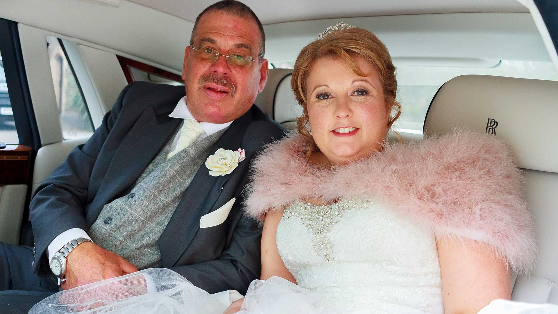 Mr and Mrs Cooney in the Rolls-Royce Phantom