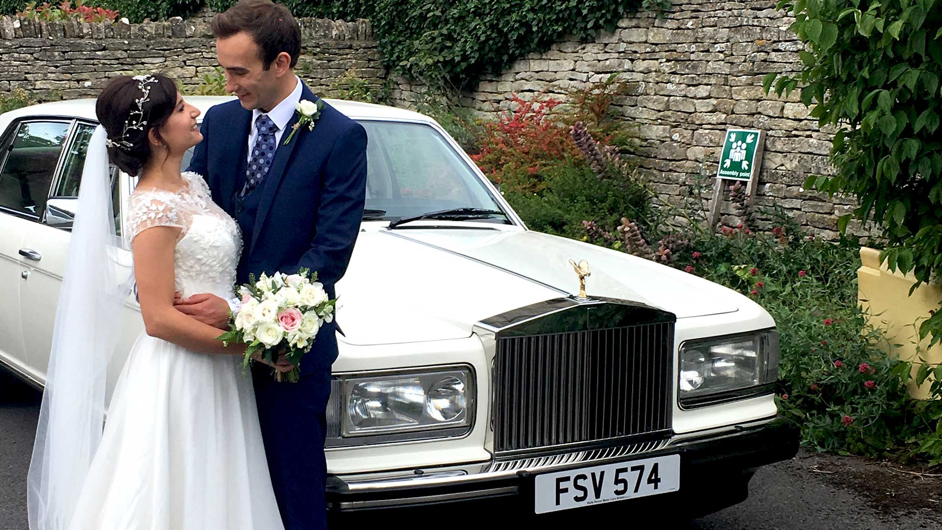 Duncan and Katerina with the Rolls-Royce Silver Spur
