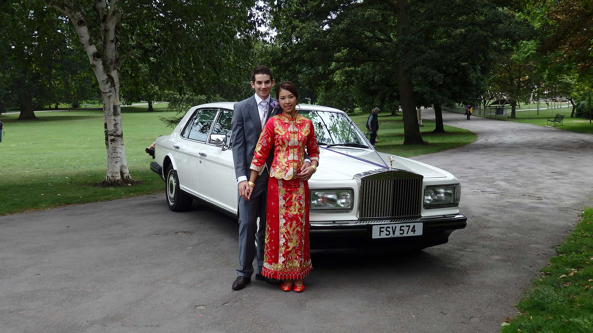Niall and Elle with the Rolls-Royce Silver Spur