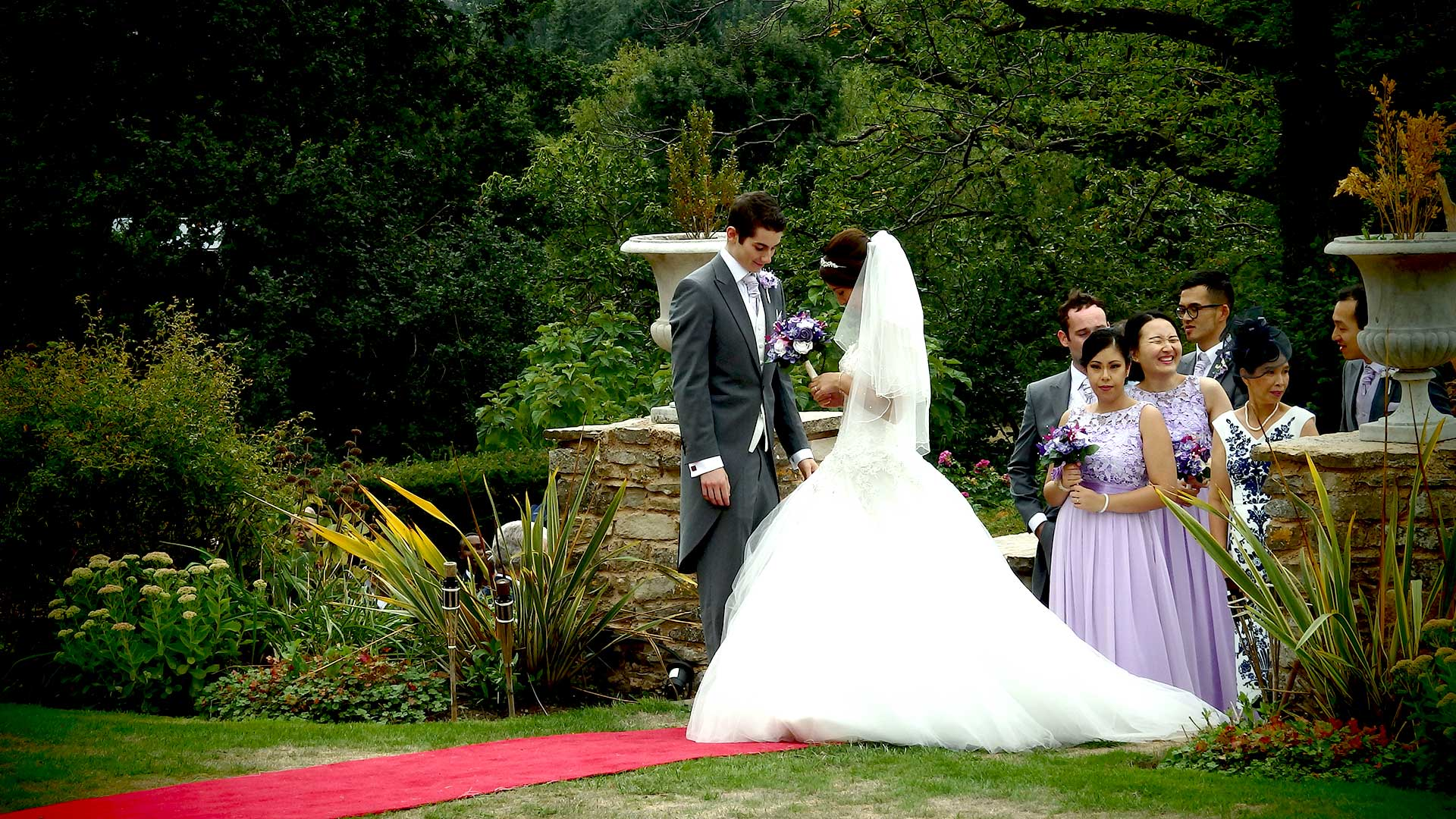 Newly-wed couple Niall and Elle at Glenfall House