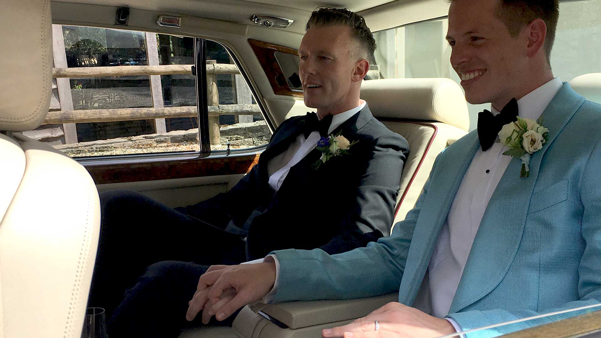 Sam and Brian in the Rolls-Royce Silver Spur
