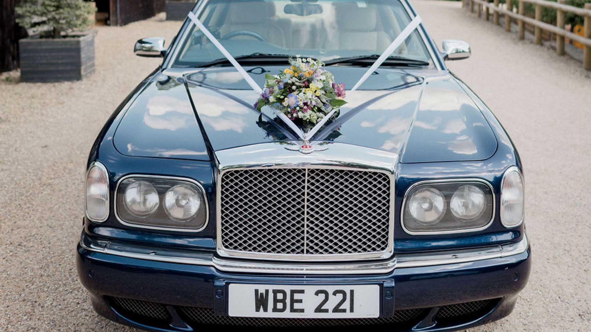 The Bentley Arnage wedding car in Blue