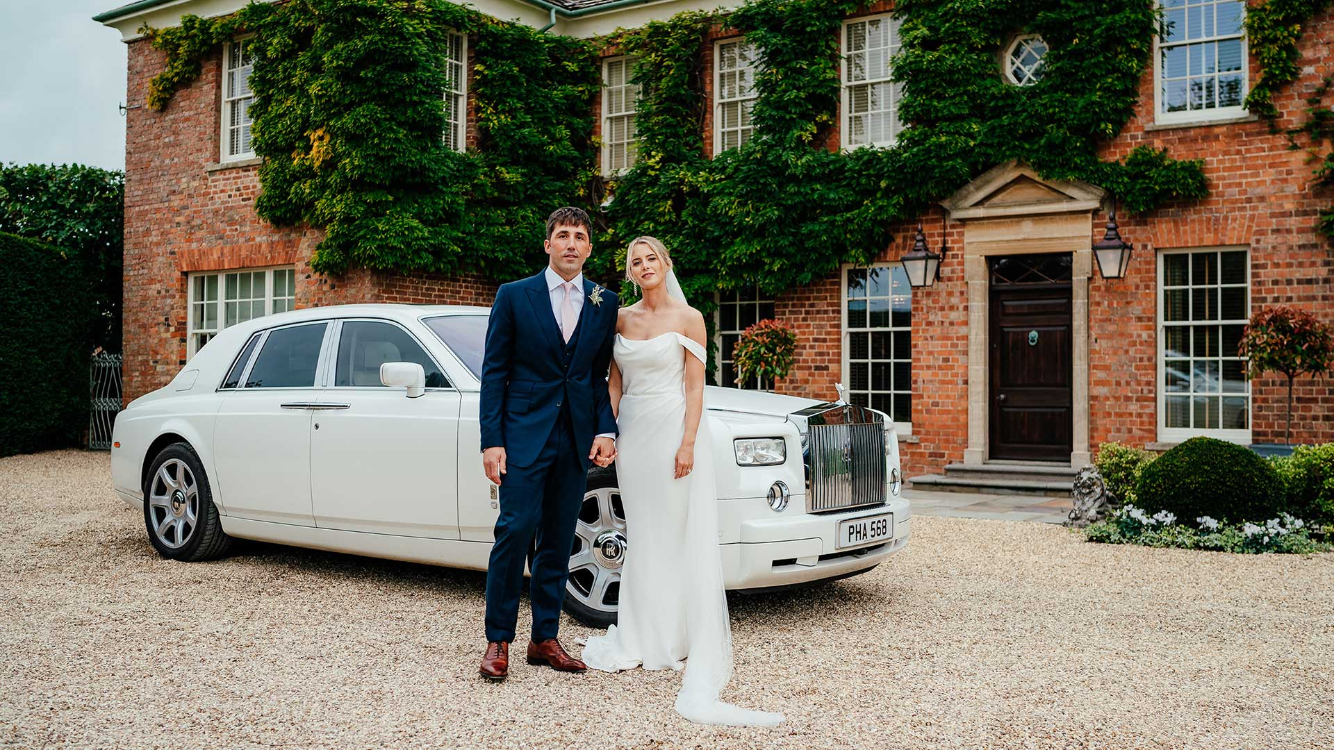 Gavin and Katie with the Rolls-Royce Phantom in White