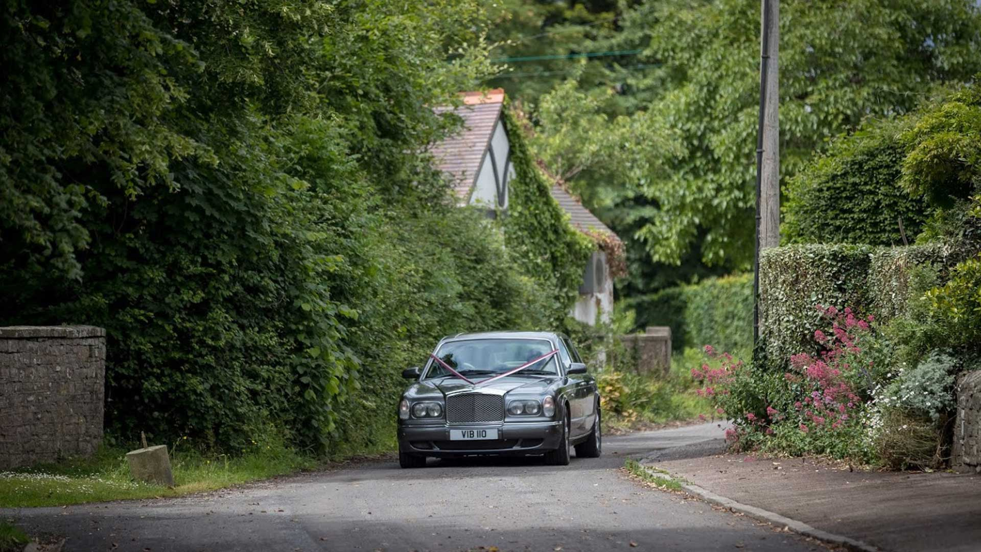 The Bentley Arnage wedding car